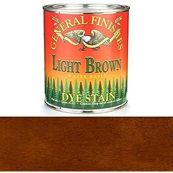 General Finishes DQL Water Based Dye, 1 quart, Light Brown