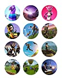 Fortnite 2'' Edible Cupcake Topper Images, Set of 12