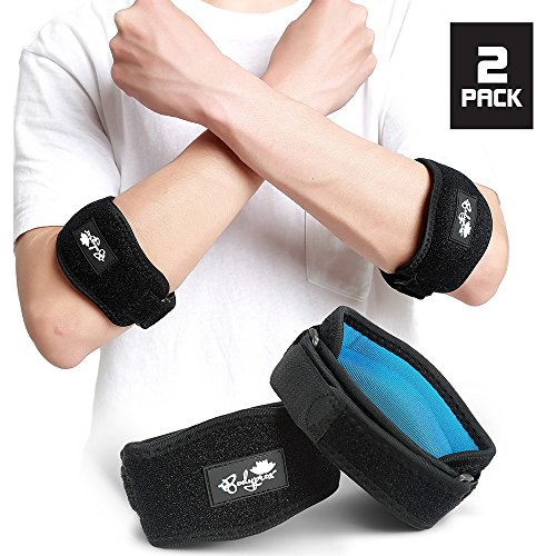 Tennis Elbow Cuff - Elbow Brace 2 Pack for Tennis & Golfer's Elbow Pain Relief