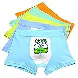 Underwear Brief Boys Boxer Briefs 5-pack Baby Toddler Kids Cartoon Boys Underpants (Large 3-5years  Fog) Fog Large   3-5 Years