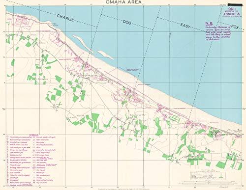 XYZ Maps D-Day - Omaha Beach - Normandy - Wall Map - 30