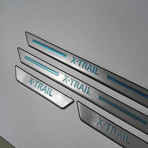 Exterior Parts Car Accessories For Nissan X-Trail X Trail T31 2009-2013 Stainless Steel Door Sill Scuff Plates Protectos Car Styling Sticker - (Color: Silver)