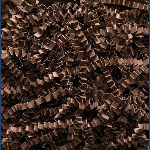 Chocolate Crinkle Cut Paper Shred 10 lbs/Case by JC Danczak