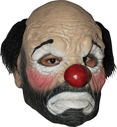 Ghoulish Men's Circus Killer Clown Hobo Latex Mask Halloween Costume Accessory