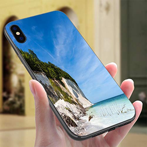 IPhone7P/8P Color case Baltic Sea Coast on The Island Ruegen Germany Resistance to Falling, Non-Slip,Soft,Convenient Protective Case (Ruegen Island)