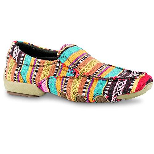 Southwest 021 Western MU 09 Roper Shoe 1776 Black 0131 Multi Womens Stripes qv7nntAw0