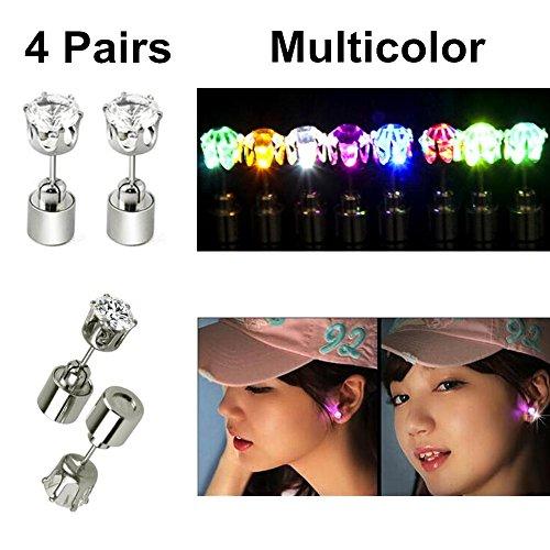 Unisex Light LED Blinking Studs Earrings Shinning /Festival - 1