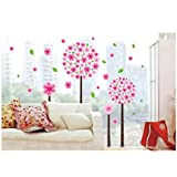 Home Decorative Mural Vinyl Wall Sticker Beautiful Pandora Tree Pink Kids Nursery Wall Art Decal by Kaigeli888