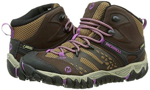 Merrell All out Blaze Vent Mid GTX, Botines para Mujer, marrón Oscuro, 40.5 EU: Amazon.es: Zapatos y complementos