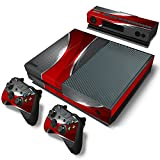 Cheap ZoomHit Xbox One Console Skin Decal Sticker Red and Chrome + 2 Controller & Kinect Skins Set