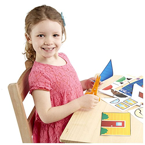 51LyU55yRGL - Melissa & Doug Scissor Skills Activity Book With Pair of Child-Safe Scissors (20 Pages)