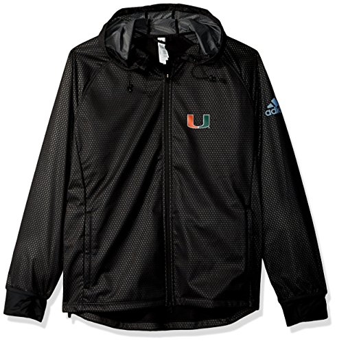 adidas NCAA Miami Hurricanes Adult Women Team Logo Climastorm Full Zip Jacket, Medium, Black (Adidas Climacool Jacket)