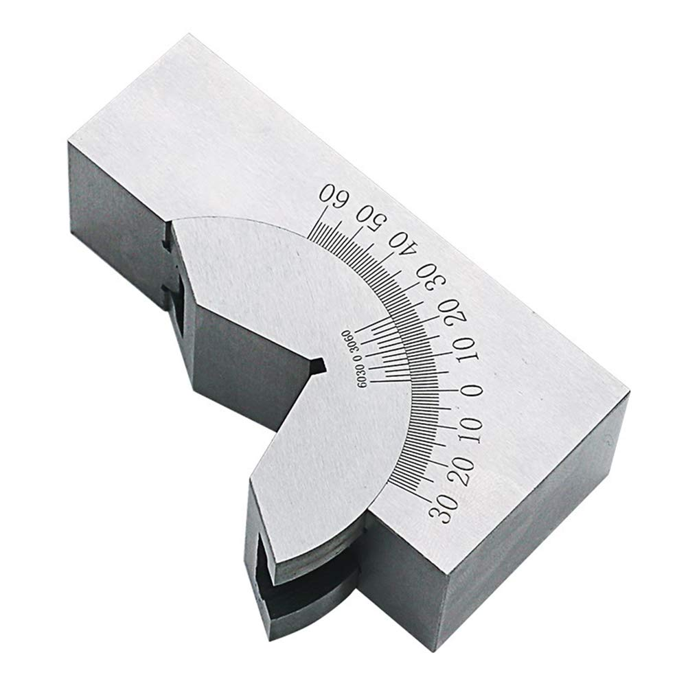 Hemobllo 90 Degrees Angle Ruler Finder Stainless Steel Metric Adjustable Cushion Block (Silver)