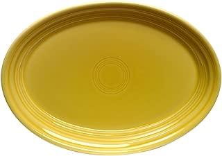 """product image for Homer Laughlin China 456320 Sunflower 9.58"""" Oval Platter - Dozen"""