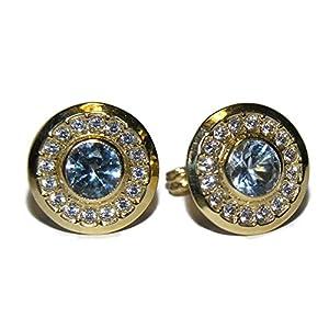 Pendientes de oro de 18k con circonitas. 11mm Pendientes de oro de 18k con circonitas. 11mm Pendientes de oro de 18k con circonitas. 11mm