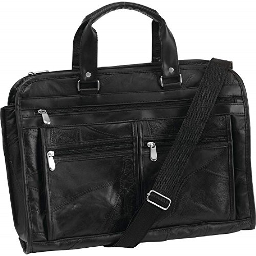 (Embassy Italian Stone Design Genuine Buffalo Leather Concealed Carry Briefcase)
