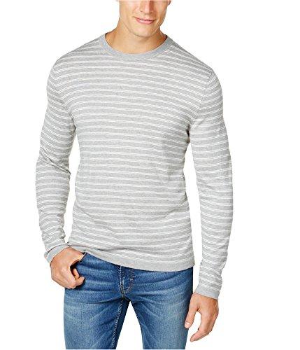 Club Room Mens Silk Blend Knit Basic T-Shirt Grey 3XL