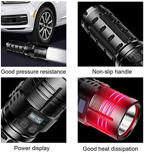 AYCPG LED Multifunction Tactical Flashlight, 5 Modes and Promise Dimming, IPX5 Waterproof Portable Small Powerful Torch for Emergency, Camping, Outdoor Activities hfhdqp