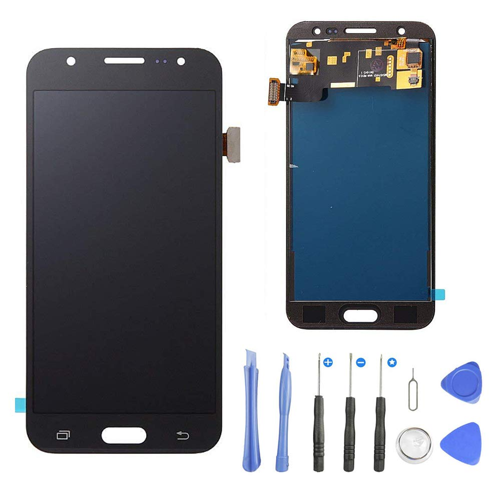 TOVE Screen Replacement for Samsung Galaxy S5 G900 i9600 G900A G900T G900V G900P LCD Glass Display Touch Digitizer Assembly Tools (Black) by TOVE