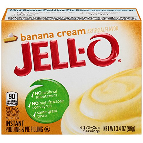(Jell-O Banana Cream Instant Pudding Mix, 3.4 oz Box)