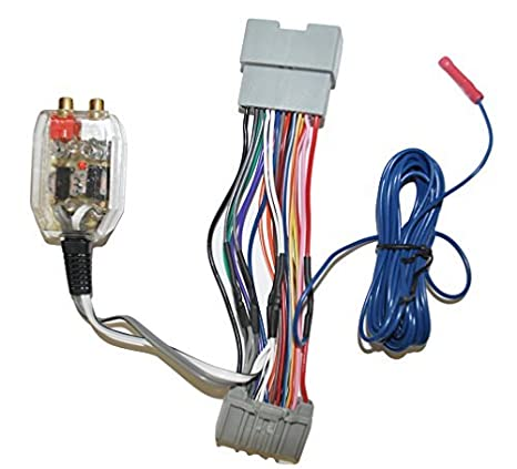 amazon com factory radio add a amp amplifier sub interface wire Dodge Radio Wiring Harness amazon com factory radio add a amp amplifier sub interface wire harness inline converter for select chrysler dodge jeep car electronics