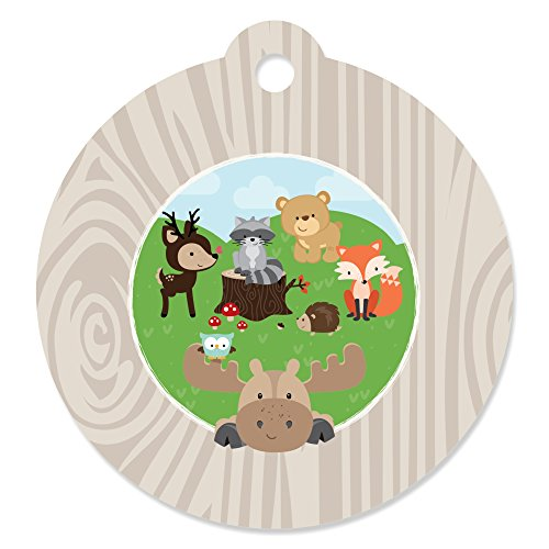 Woodland Creatures - Baby Shower or Birthday Party Favor Gift Tags (Set of -