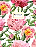 Peony Bouquet Notebook: Pink Peonies Flower Notebook (Composition Book, Journal) (8.5 x 11 Large)