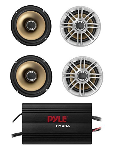 "4) NEW Polk Audio DB651 6.5"" 180 Watt 2-Way Car Marine Speak"