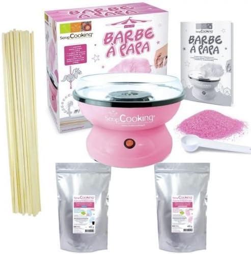 Kit Máquina Algodón de azúcar + preparación rosa y azul 800 g + ...