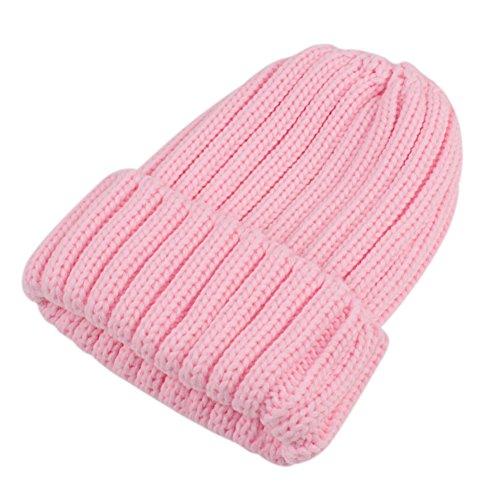 Sunbeter Inverno Cappello a maglia per bambini Simpatico cappello da  berretto caldo con pompon in pelliccia fa397cc20dd0