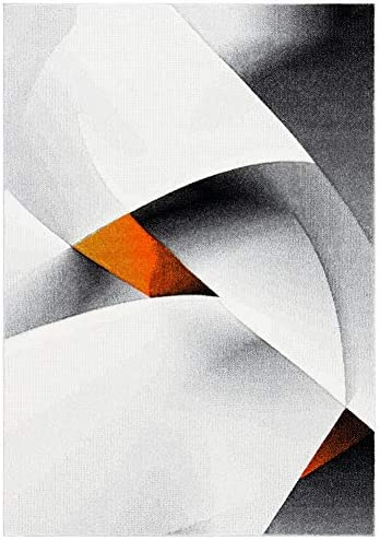 Safavieh Hollywood Collection HLW713P Mid-Century Modern Abstract Area Rug, 9 x 12 , Grey Orange