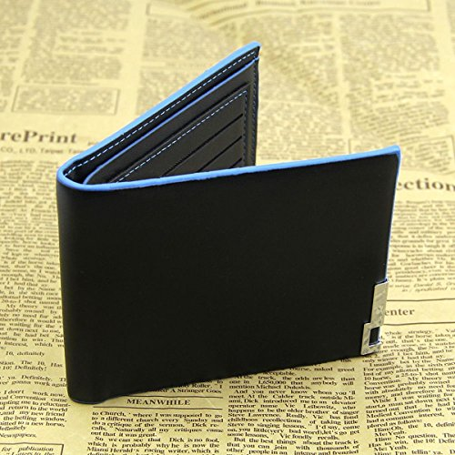 New fashion Men Bifold Business Leather Wallet Money Card Holder Coin Bag Purse Gift - Bvlgari Price Black