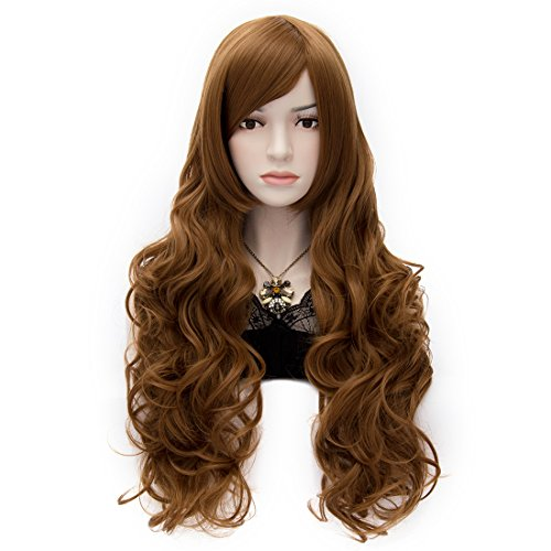 Gentlewoman Costume (Blonde Brown long Synthetic Women's Wigs 32 Inch fashion dresses for women 2017 Long Wavy Wonderful Natural Wig)