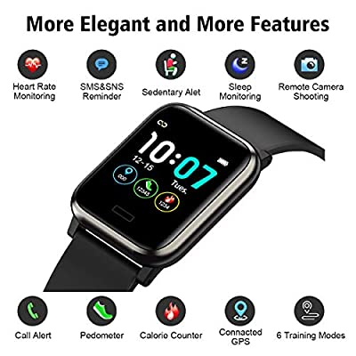 L8star Fitness Tracker HR, Activity Tracker with 1.3inch IPS Color Screen Long Battery Life Smart Watch with Sleep Monitor Step Counter Calorie Counter Smart Bracelet for Women Men from Tiinnya