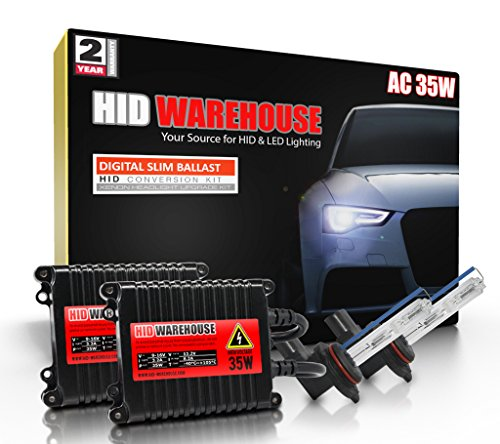H11 H9 H8-6000K Innovited 55W AC Xenon HID LightsAll Bulb Sizes and Colors with Digital Slim Ballast Diamond White 2 Year Warranty