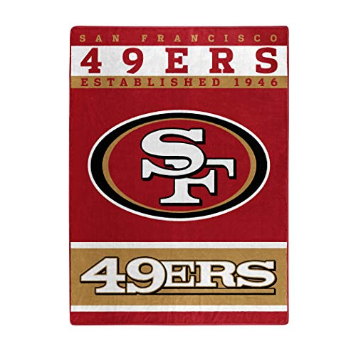 (The Northwest Company Officially Licensed NFL San Francisco 49ers 12th Man Plush Raschel Throw Blanket, 60