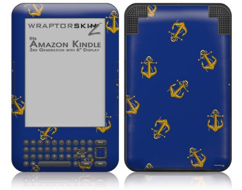 Anchors Away - Decal Style Skin fits Amazon Kindle 3 Keyboard (with 6 inch display)