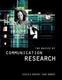 The Basics of Communication Research (Wadsworth Series in Speech Communication)