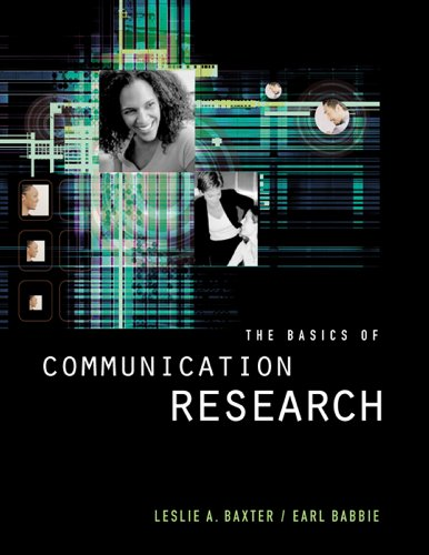 The Basics of Communication Research (Wadsworth Series in Speech Communication) Pdf