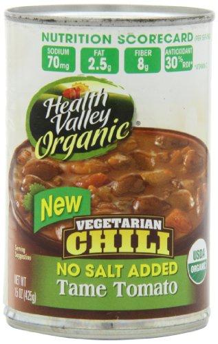 Долина для здоровья Органические Chili Tame помидоры, соль не добавляется, 15 унция банок (в упаковке 12)