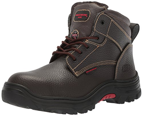 Skechers for Work Men's Burgin-Tarlac Industrial Boot,Brown Embossed Leather,8 W US by Skechers