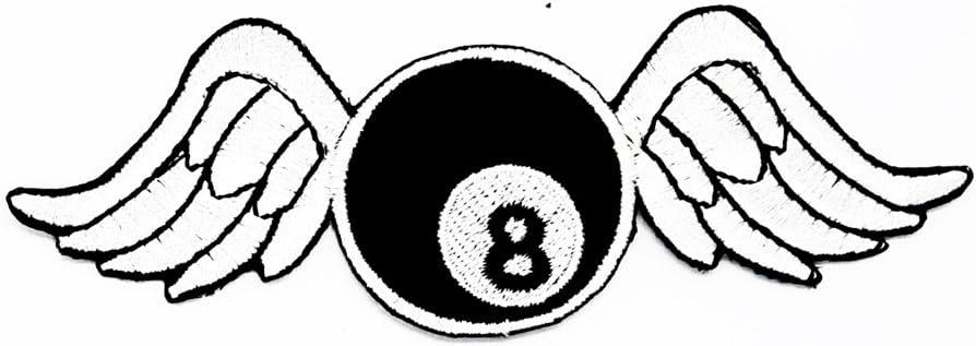 Rabana blanco negro 8 ocho bola billar piscina con alas Flying ...