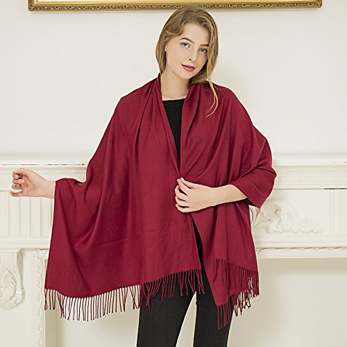 RENYZ.ZKHN Red Scarf Men And Women'S Winter Red Shawl Custom Patterned Embroidery Logo Claret cblSdkSSml