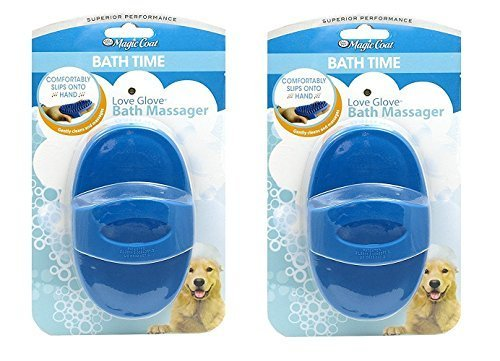 Four Paws Conditioner - Four Paws Magic Coat Love Glove Dog Bath Massager (2 Pack)