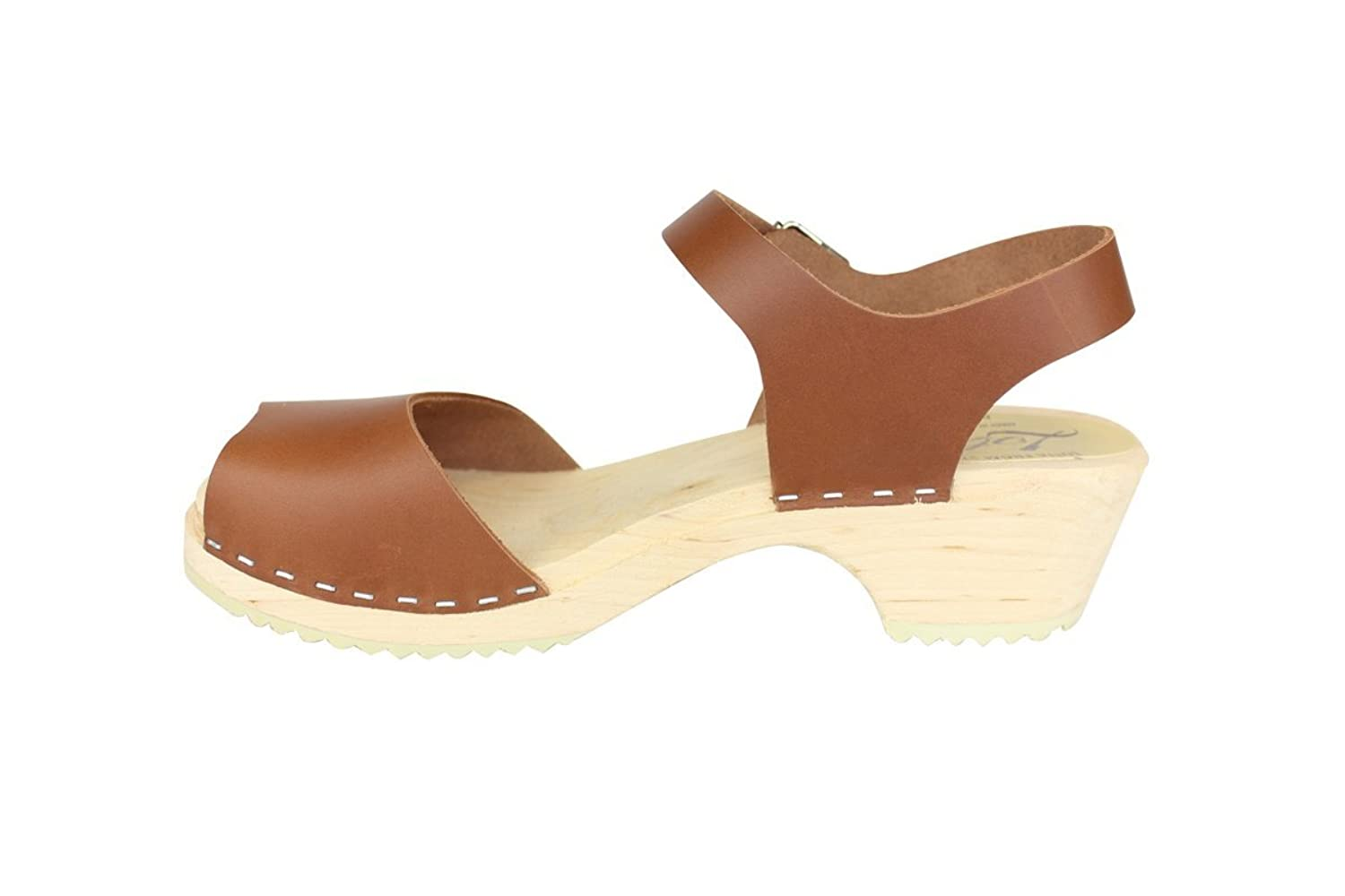 Lotta From Stockholm Low Wood Open Clogs in Tan: Amazon.co.uk: Shoes & Bags