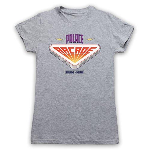 Stranger Things Palace Arcade Camiseta para Mujer Gris Claro