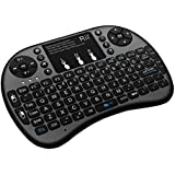 Rii FMKBTL1-IV1  i8+ BT Mini Wireless Bluetooth Backlight Touchpad Keyboard with Mouse for PC/Mac/Android, Black (RTi8BT-5)