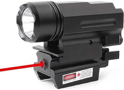 Tactical LED Taschenlampe Licht Fit 20mm Weaver Picatinny-Schiene Red Dot Laser