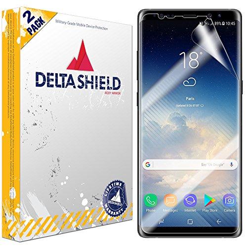 Galaxy Note 8 Screen Protector (Case Friendly Slim)[2-Pack], DeltaShield BodyArmor Full Coverage Screen Protector for Galaxy Note 8 Military-Grade Clear HD Anti-Bubble Film