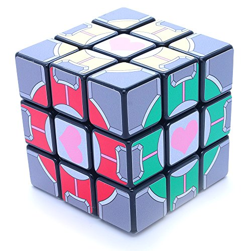 3x3x3 Portal Companion Cube Black SuperCube Picture Sticker Mod Twisty Puzzle -